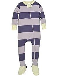 Unisex Baby Organic Front Zip Sleeper, Morning Haze Stripe, Newborn
