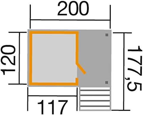 Weka Lotti - Casa de Juegos con Escalera y terraza, tamaño de la Base: Aprox. 200 x 120 cm, Pedestal Aprox. 60 cm. Altura Total: Aprox. 204 cm, Madera de Abeto.: Amazon.es: Juguetes y juegos