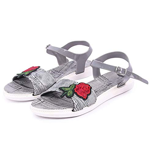WMK Designer Women's Footwear are Crafted for Modern Women with Latest Blue Casual Sandal for Women