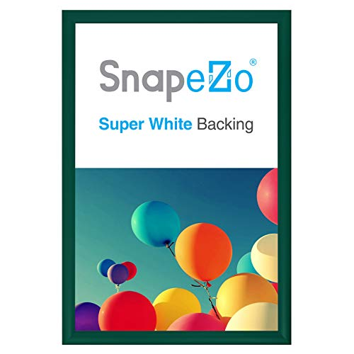 SnapeZo Poster Frame 20x30 Inches, Green 1.2 Inch Aluminum Profile, Front-Loading Snap Frame, Wall Mounting, Premium Series