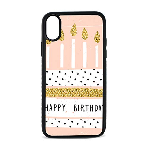 Case for iPhone Birthday Cake Dessert Baking Gift Surprise Digital Print TPU Pc Pearl Plate Cover Phone Hard Case Cell Phone Accessories Compatible with Protective Apple Iphonex/xsCase 5.8 - Dessert Plate Garland