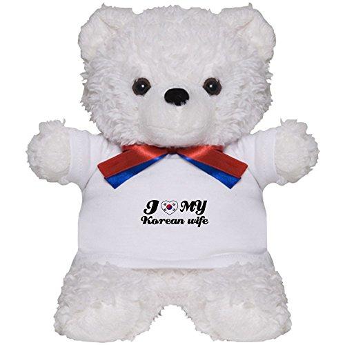 Price comparison product image CafePress - I Love My Korean Wife - Teddy Bear, Plush Stuffed Animal