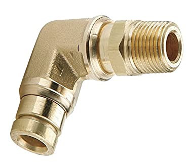 1//4 x 1//8-27 Push-in Fitting Brass 1//4 x 1//8-27 Tube to Pipe Swivel Elbow 90 Tompkins 1579-04-02 D.O.T