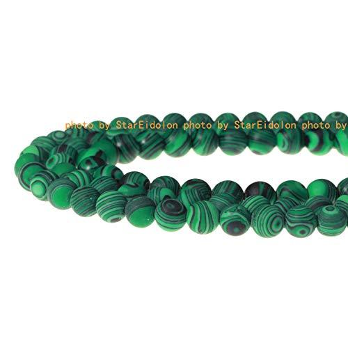 100% Natural Stone Gemstone Round Loose Beads Semi Ball Stone Crystal Energy Necklace Bracelet DIY Healing Power Stone for Jewelry Making 1 Strand 15