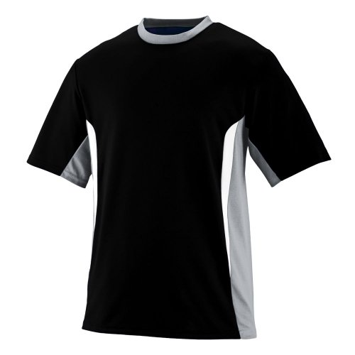 Style 1511 Surge Jersey - Youth (medium, black silver grey white)