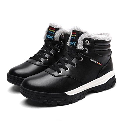 Arke Heren Enkellaarzen Volledig Bontvoering Waterproof Leren Sportschoenen Lace Up Winter Sneakers Voor Buiten / Sport / Casual / Dagelijks / Wandelen / Winter Zwart