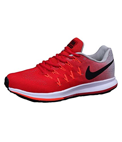 salado Fuera de plazo fresa  Buy Nike Men's Air Zoom Pegasus 33 Running Shoes - 11 UK Red/Grey at Amazon .in