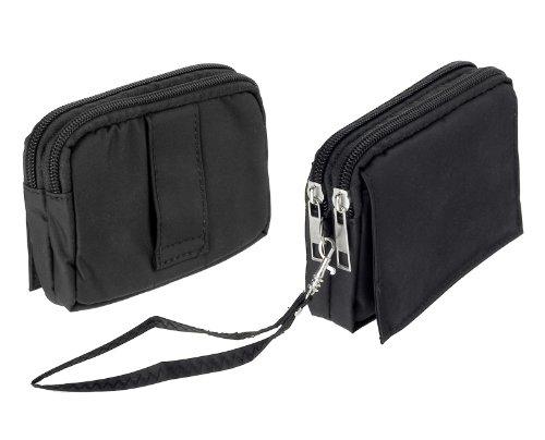 yayago Travel-Case Quertasche Tasche Hülle in schwarz für Sony Xperia Acro S Lt26w / Sony Xperia Ion lt28i und für weitere Modelle