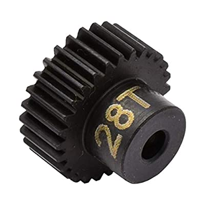 Hot Racing CSG1828 28t 48p Hardened Steel Pinion Gear 1/8 Bore: Toys & Games