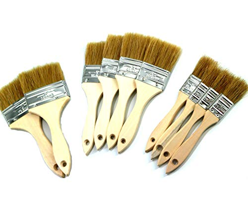 PANCLUB Chip Paint Brushes Bulk Assorted Size| 40 Pack of Paint Brush for Home Wall Trim House | for Paint, Gesso, Glues, Varnishes, Stains, and Acrylics