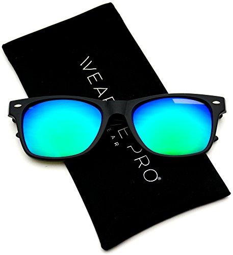 460a63764b8 WearMe Pro - Premium Wayfarer Style Glasses Matte Frame Mirr