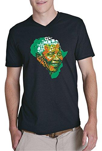 Mandela Africa V-Neck Black Certified Freak