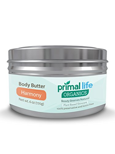 Body Butter BEST – Fast, Effective Hydrating Butter for dry, rough skin – 100% Natural, Organic, Gluten-free – Soothes, heals, moisturizes – 6 oz. Harmony Scent – Primal Life Organics For Sale
