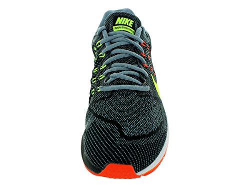Nike Menns Luft Zoom Struktur 18 Joggesko Magnet Grå, Svart, Hyper Crimson, Volt