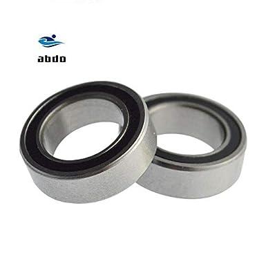 Rubber Sealed Ball Bearing Set 10 PCS 6204-2RS BLACK 6204RS 20x47x14 mm