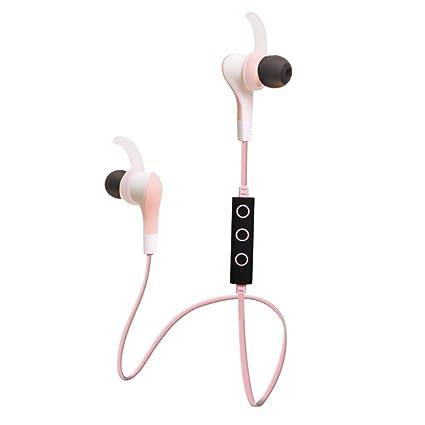 HWJF Auriculares Deportivos Bluetooth 4.1 Auriculares Intrauditivos Auriculares Inalámbricos Consejos De Voz En Inglés Y En