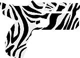 hBARSCI Space Taser Vinyl Decal - 5 Inches - for Cars, Trucks, Windows, Laptops, Tablets, Outdoor-Grade 2.5mil Thick Vinyl - Zebra Print