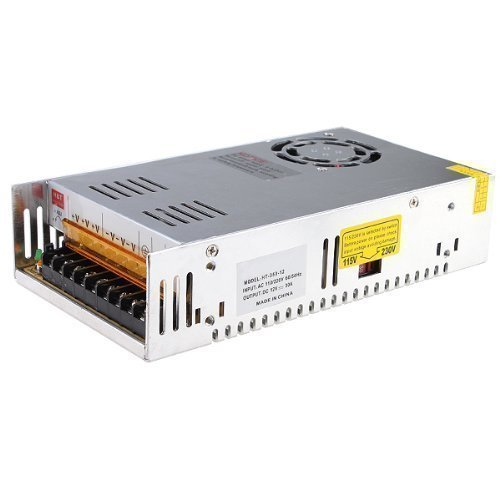 MENZO 24V 15A DC Universal Regulated Switching Power Supply 360W for CCTV, Radio, Computer Project , LED Strip Lights