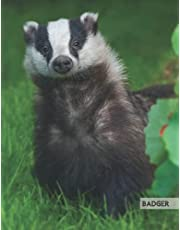 Badger: Composition Notebook College Ruled 8.5 x 11, Perfect For Note-Taking (Journal, Diary, School Notebook), 110 Pages