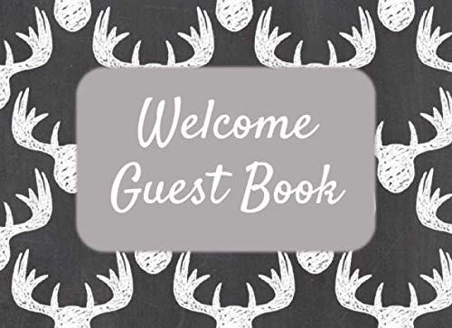 Welcome Guest Book: Sign In Log Book for Vacation Rental, Bed & Breakfast, Airbnb, VRBO, Home Away - Moose Head