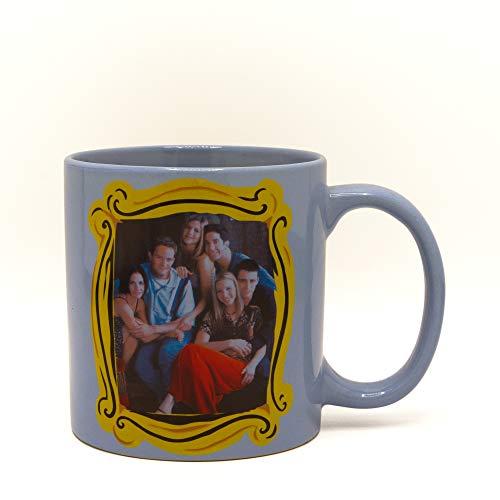 Silver Buffalo FRD30134 Warner Brothers Friends Group in Frame Ceramic Mug, 20-Ounce, ()