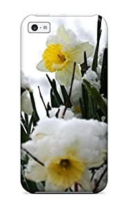 Craigmmons Case Cover For Iphone 5c - Retailer Packaging Daffodils In The Snow White Nature Flower Protective Case