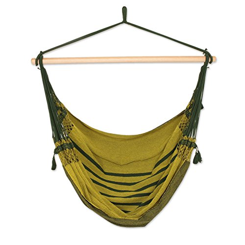 NOVICA Cotton Hammock Swing, Amazon Forest