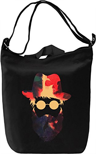 Hipster Boy Borsa Giornaliera Canvas Canvas Day Bag| 100% Premium Cotton Canvas| DTG Printing|