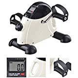 AW Portable Mini Pedal Exerciser Fitness Exercise Bike Cycle Arm Leg LCD Display Home Office Under Desk