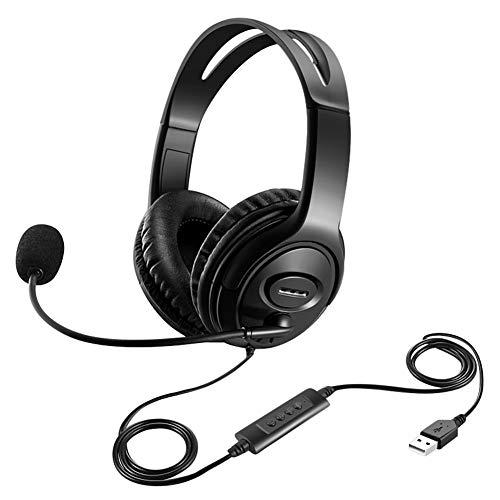 🥇 Afaneep USB Auriculares con Micrófono