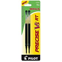 Pilot Precise V5 RT Liquid Ink Refill, 2-Pack for Retractable Rolling Ball Pens, Extra Fine Point, Black Ink (77273)