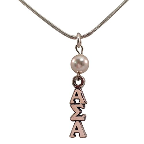 Desert Cactus Alpha Sigma Alpha Sorority Pearl Sterling Silver Lavalier with 18 Inch Chain ASA - Fraternity Sorority Pearls