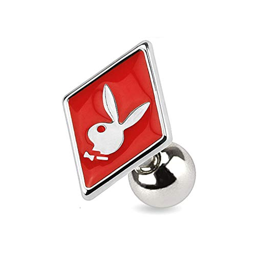 Dynamique Card Suit Symbols with Playboy Bunny 316L Surgical Steel Cartilage/Tragus Barbell (Sold per - Mens Playboy Earrings