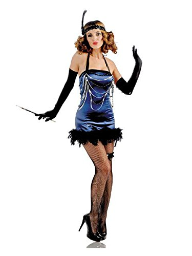 Womens All That Jazz Flapper Costumes (All That Jazz Adult Costume Blue - XS/Small)