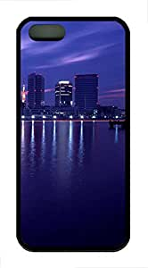 Brian114 iPhone 5S Case - City New York 18 Back Case Cover for iPhone 5 5S Soft Rubber Black Cases