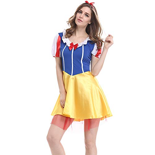 CQY Girl's Snow White Dress Female Role Playing Party Costume Set Cinderella Dress Female -