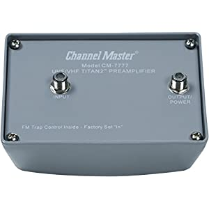 "Channel Master CM-7777 Titan 2 Antenna ""High Gain"" Preamplifier"