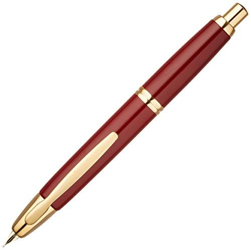 Pilot Fountain Pen Capless, M-Nib, Deep Red Body (FC-15SR-DR-M) by Pilot