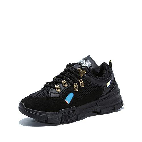 SYW Damas Zapatos Deportivos Zapatos de Mujer Zapatos Casuales otoño y el Invierno bajo y cómodos Zapatos de Mujer. Black