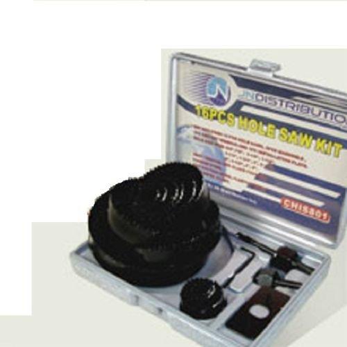 NEW Hole SAW SET - 16 Pc Hole Saw Kit- 34 - 5 Inch - Includes Case