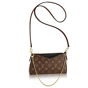 15. Louis Vuitton Monogram Canvas Pallas Clutch (Noir)