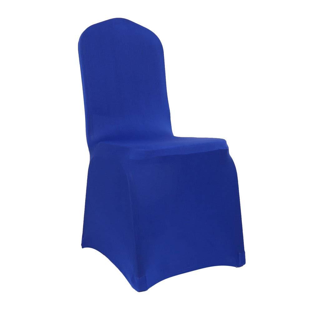 FTYUNWE Housses De Chaise Couverture Stretch De Chaise Universelle Moderne Polyester Housses De Protection Mariage Banquet F/ête danniversaire F/êtes D/îner,Brown-1PCS