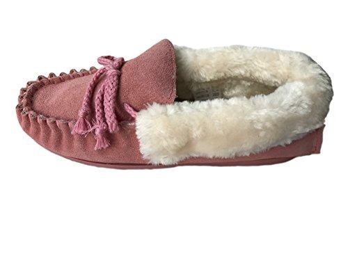 KURU , Damen Hausschuhe rosa Pink Furcuff 37.5