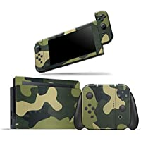 Skin Adesivo Protetor 4D Fibra de Carbono Nintendo Switch (Camuflado)