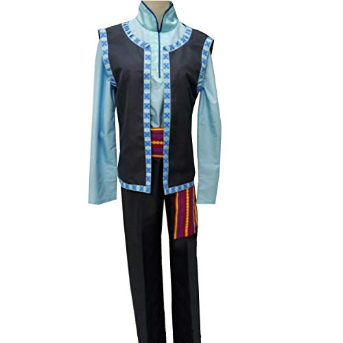 Mens Kids Prince Outfit for Kristoff Cosplay Costume Custom Made Halloween (Men L) -