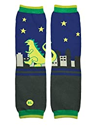 BabyLegs T-Rex Leg Warmers, Green/Blue, One Size Fits Most