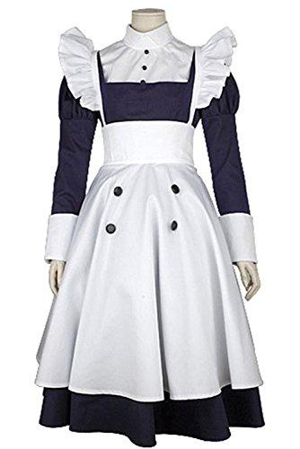 Ciel Phantomhive Costume Cheap (UU-Style Maid Dress Black Butler Kuroshitsuji Maylene Cosplay Costume Uniform)