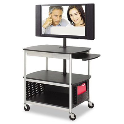 Safco Products 8940BL Scoot Open Flat Panel Multimedia Cart, Black by Safco Products