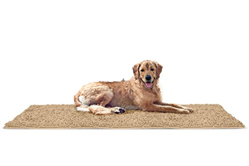 FurHaven Pet Dog Mat | Muddy Paws Towel & Shammy Rug, Sand (Tan), Runner