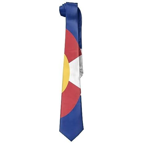 Flag of Colorado Mens Casual Polyester Solid Silk Tie Corbata ...